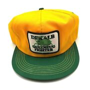 Vintage Dekalb K Products Greenbug Fighter Hat Cap Yellow Agriculture Farm