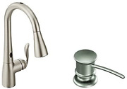 Moen Arbor Motionsense Two-sensor Touchless One-handle High Arc Pulldown Kitchen