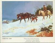 Vintage Christmas Horse Mare Colt Cowboy Snow Ranch William Moyers Kindness Card