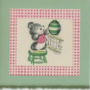 Vintage Cute Mouse Cookie Jar Kitchen Gingham Stool Collage Picture Art Print