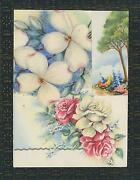 Vintage Eclectic Roses Flowers Botanical Collage Abstract On Antique Old Paper