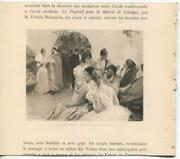 Antique Victorian Party Ball In Honor Of Governor Of Algeria Algiers Men Print