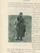 Antique Shepherdess Sheperd 's Daughter Cane Thistle Water Canteen Meadow Print