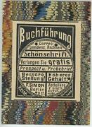 Antique German Aceo Size Accounting Berlin Germany Advertisement Old Art Print