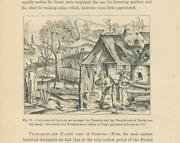 Antique Gardening Oven Bread Barley Oats Cultivation Of Grains Medieval Print