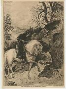 Antique Medieval Saxon Knight Armor White Horse Chapel Sherwood Forest Print
