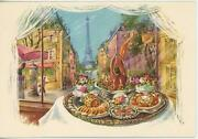 1 Vintage French Pastry Duck Appetizers Eiffle Tower Turkey Canapes Recipe Print