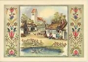 Vintage House Garden Danish Apple Pudding Recipe Print 1 French Cafe Beer Card