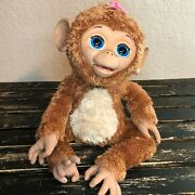Hasbro Furreal Friends Cuddles My Giggly Monkey Large Interactive Pet 2012 Works