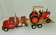Vintage Custom International 10-wheel Implement Truck W/ih 886 Tractor And Disc