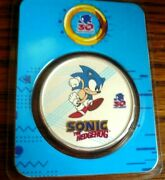 2021 Sonic The Hedgehog Sega Colorized 1 Oz .999 Silver Coin Round In Tep