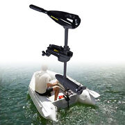 Marine 58lbs Electric Outboard Engine Trolling Motor For Fishing Boat Kayak W/ce
