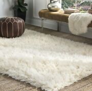 Natural Greek Flokati 9and039 X 12and039 Fluffy Area Rug Brand New Unwrapped