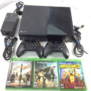 Xbox One Model 1540, 2 Controller, 3 Games, Power Supply, Hdmi Cable