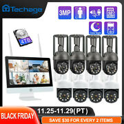 8ch 3mp Ptz Wireless Ip Camera Security System 12 Lcd Monitor Wifi Nvr Lot