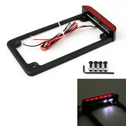 Universal Motorcycle 3 Led License Plate Frame With Led Tail Brake Light Ue