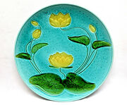 Large Platter Schramberg Germany Water Lily Waterlilies Majolica Pottery