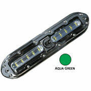 Shadow-caster Scm-10 Led Underwater Light W/20and039 Cable 316 Ss Housing Aqua Green