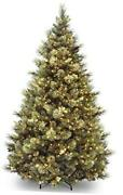 Pre-lit Artificial Christmas Tree | Includes Pre-strung White Lights And 9 Ft