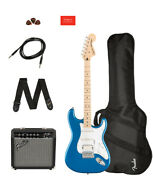 Squier Affinity Series Strat Hss Pack, Lake Placid Blue W/ Gig Bag And Amp