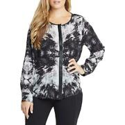 Tart Collections Krista Plus Size Printed Long Sleeve Blouse