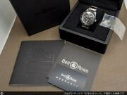 Bell And Ross Watch Vintage Br-123 Sports Heritage Automatic Date W/ Box Guarantee