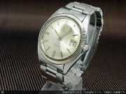 Ebel Napoleon Watch Red Black Date Cal.214 Pyramid Bezel Automatic Silver Dial