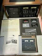 Nakamichi 1000 Tri-tracer 3 Head Cassette System In Very Good Condition
