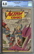 Action Comics 252 Cgc 4.0 Cr/ow Pages // Origin + 1st Appearance Supergirl 1959