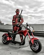 Soversky Electric Chopper Motorcycle 2000w 20ah Fat Tire Scooter M1 Red