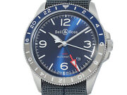 Bell And Ross Vintage Gmt Blue Brv293-blu-st/sf Ss Auto Menand039s Watcha52562