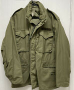 Vintage Vietnam Era Us Army Military Cold Weather Thick Jacket Size Xl