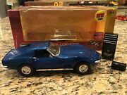 2002 Ertl American Muscle 118th 1968 Corvette 50th Anniversary Blue Coupe Mint
