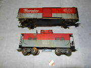 Marx 3/16ths O Gauge Pair Of Parts Cars Pacemaker Boxcar Nyc Caboose