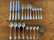 20 Pc. Christofle Perles Beaded Edge Silverplate Flatware Service For 4