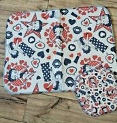 New Betty Boop Rug And Pot Holder Hearts