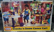 Little Tikes Snack N Snow Cones Cart New In Box ...discontinued Htf 4031