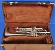 Bach Stradivarius Strad 180s37 Silver Plated Trumpet W/ Vintage Case