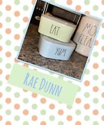 Rae Dunn Ceramic Food Storage Containers W/lids