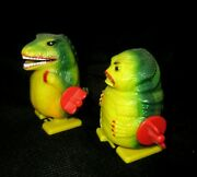 Vintage Lot Godzilla Couple Wind Up Toy Spark Shooting Fire Hong Kong