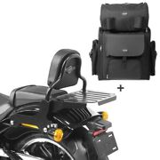 Sissy Bar + Tail Bag For Harley Softail / Sport Glide 18-21 With Rack Css