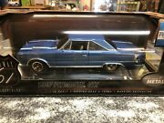 Highway 61 Collectibles 1967 Plymouth Gtx Blue W/ White Stripes 1/18 Scale