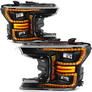 Headlights For Ford F150 2018-up Projector Headlamps Replacement Front One Pair