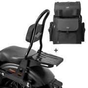 Sissy Bar Csm + Tail Bag For Harley Dyna Street Bob 09-17 Low Rider S With Rack
