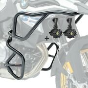 Set Engine Guard + Auxiliary Lights For Bmw F 850 Gs / F 750 Gs 18-21 Black