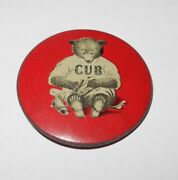 Rare 1907 Chicago Cubs World Series Champions Shoe Polish Advertising Pin Button