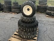 Complete Set Of R4 Tires And Rims For New Holland Boomer 24 Tractors