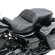 Motorcycle Seat Tg3 Seams Driver And Passenger For Harley Touring 09-21 Blk