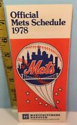 1978 New York Mets Baseball Spring Training Roster And Schedule