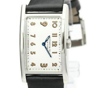Polished East West Steel Leather Quarzt Ladies Watch 36668636 Bf521539